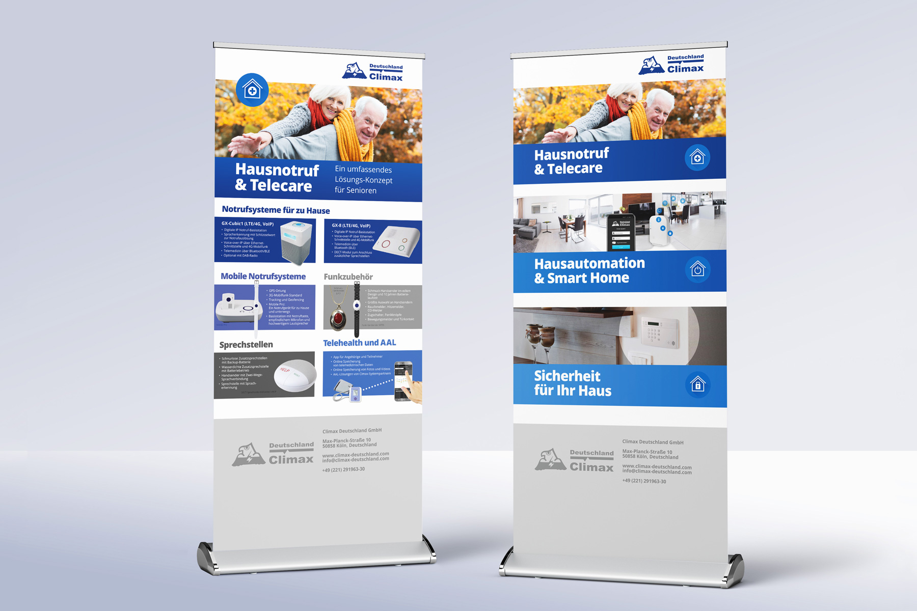 Roll-Up-Banner – Smart Home Elektronik