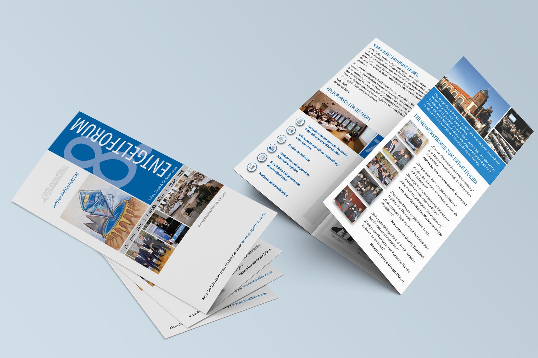 6-Seiter Flyer – Konferenz