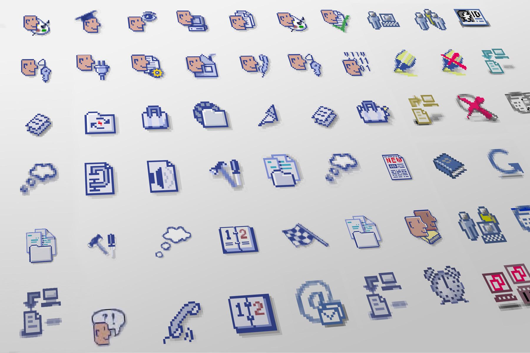 Icons für eLearning-Umgebung