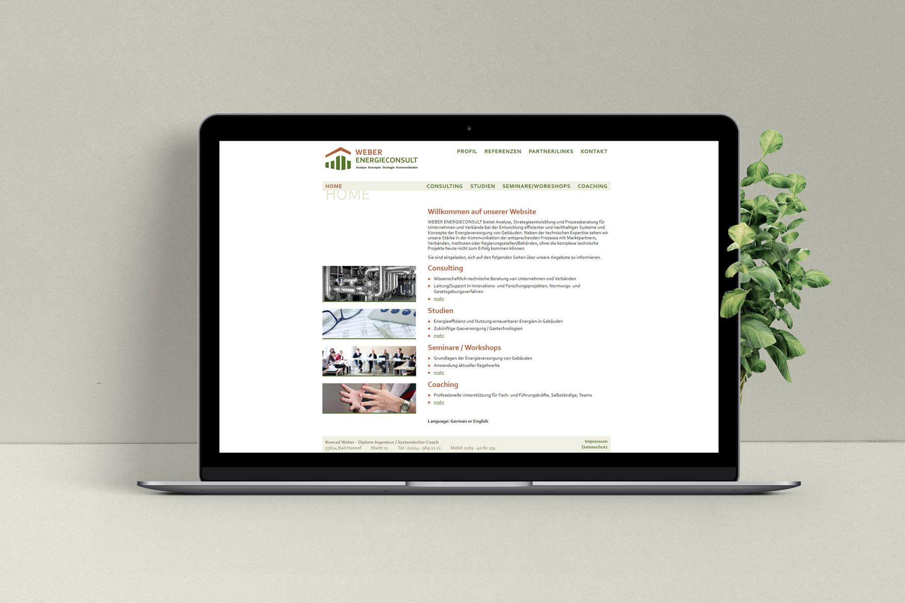 Webauftritt – Energieberatung