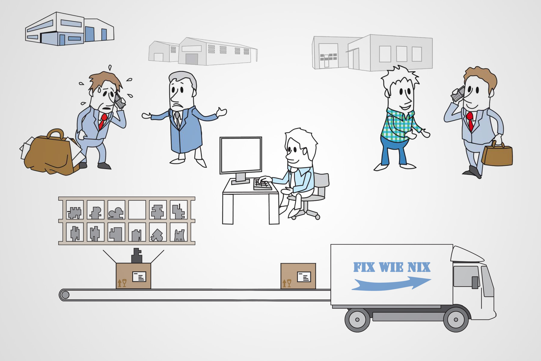 Illustrationen für Erklärvideo