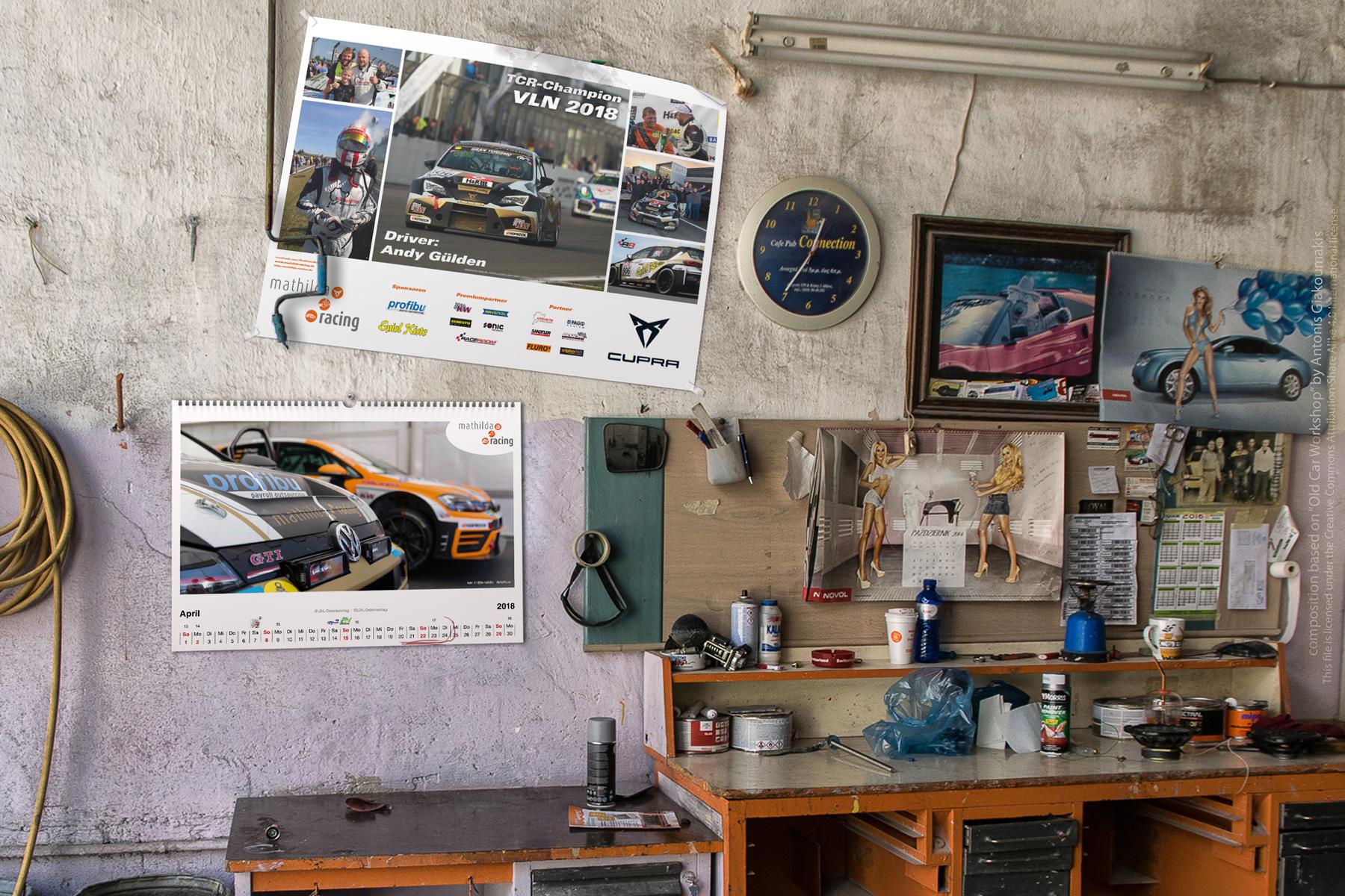 Kalender und Poster – Rennteam