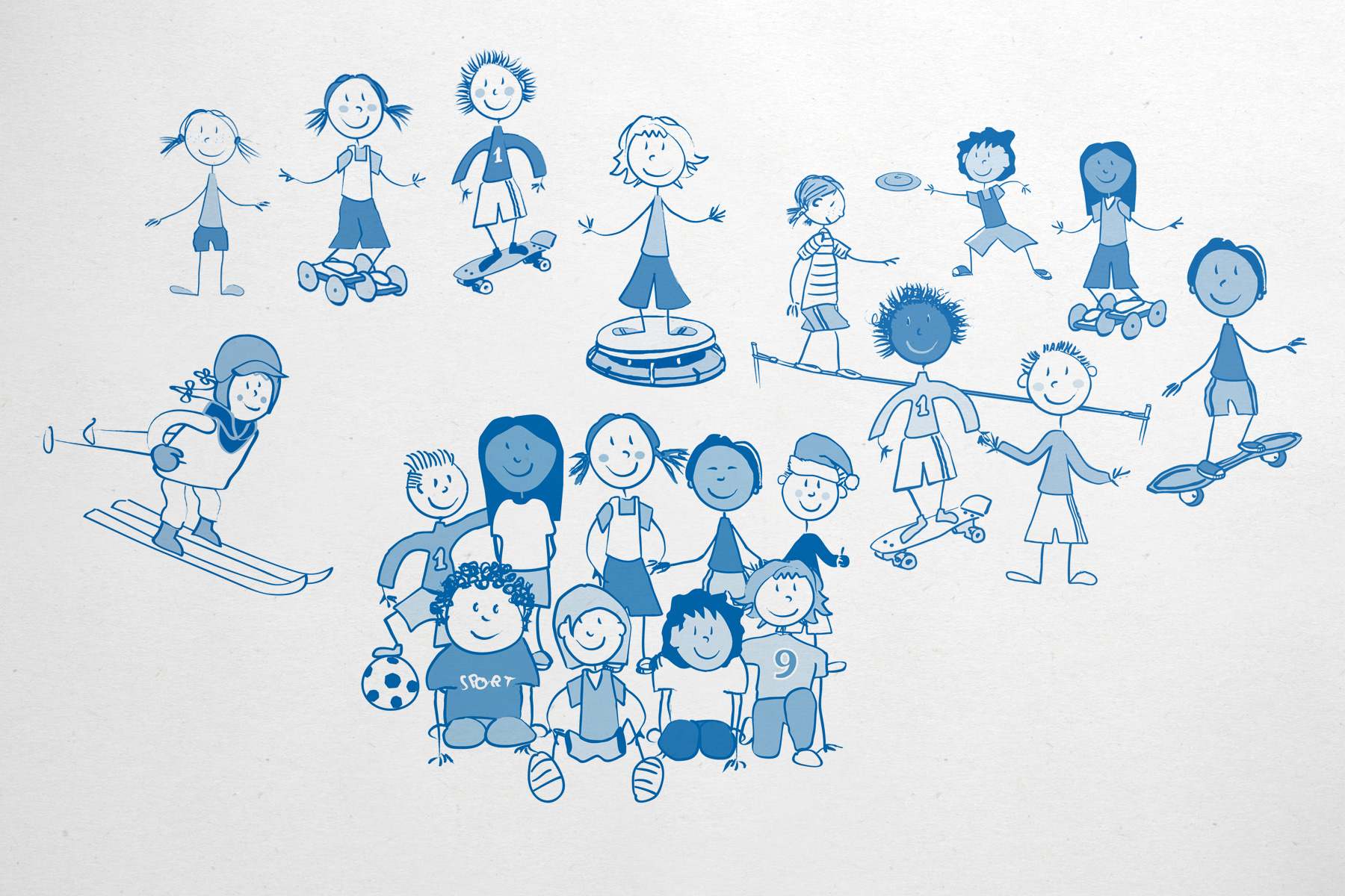 Illustrationen – Kinder-Sportangebot